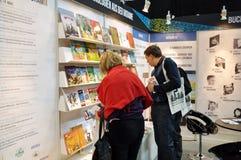 莱比锡书市的公开天 免版税库存照片
