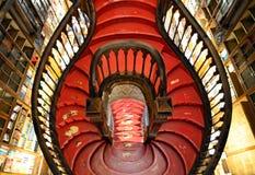 莱洛书店楼梯  免版税库存图片