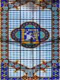 莱洛和Irmao书店天花板在波尔图,葡萄牙 免版税库存图片