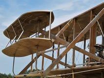 莱特兄弟飞机复制品 免版税库存图片