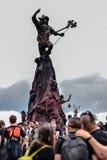 莱米在Hellfest金属节日的进贡雕象 图库摄影