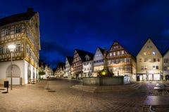 莱翁贝尔格斯图加特德国Marktplatz冬天10月2016年Villag 免版税图库摄影
