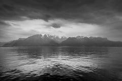 莱芒湖在洛桑,瑞士 库存照片