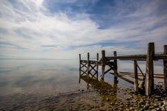 莱芒湖安静和玻璃状 库存照片