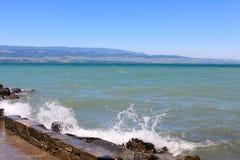 莱芒湖, Yvoire,法国 免版税图库摄影
