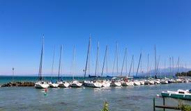莱芒湖, Yvoire,法国 免版税库存照片