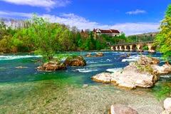 莱茵河在瑞士 库存图片