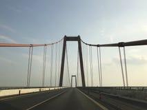 莱茵河桥梁在Emmerich 图库摄影