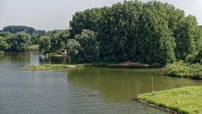 莱茵河海滩在阿纳姆 库存图片