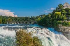 莱茵河瀑布瑞士 库存图片