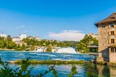 莱茵河瀑布瑞士 免版税图库摄影