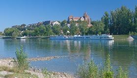 莱茵河畔布赖萨,莱茵河, Kaiserstuhl,黑森林,德国 库存照片