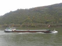 莱茵河船 免版税库存图片