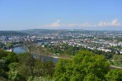 莱茵河pano 库存图片
