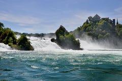 莱茵瀑布看法从Bodensee的在沙夫豪森,瑞士 免版税库存照片