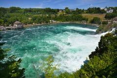 莱茵瀑布看法从Bodensee,瑞士的 免版税库存图片