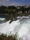 莱茵瀑布,瑞士的看法 库存照片