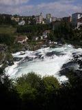 莱茵瀑布,瑞士的看法 图库摄影