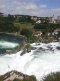 莱茵瀑布,瑞士的看法 免版税库存图片