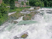 莱茵瀑布 库存照片