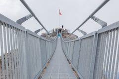 莱迪亚布勒雷, SWIZTERLAND - 7月22日:在Glacie的人步行 库存图片