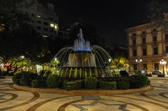 莱里达省,西班牙喷泉  图库摄影