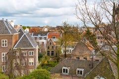莱顿,荷兰,鸟瞰图 图库摄影