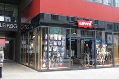 莱维品牌商店在莱比锡 库存图片