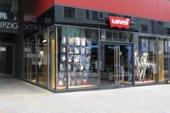 莱维品牌商店在莱比锡 免版税图库摄影