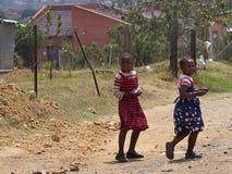 莱索托女孩 库存照片