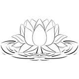 莲花剪影花设计元素例证 库存图片