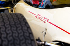 莲花历史的方程式赛车细节 库存图片