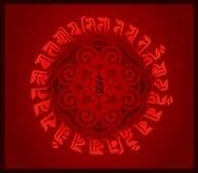 莲花图腾和佛教圣经 皇族释放例证