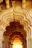 莲花寺庙古老废墟。Hampi,印度。 图库摄影