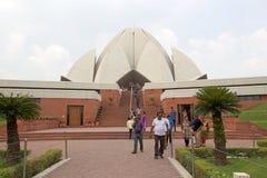 莲花寺庙在德里,印度 免版税图库摄影