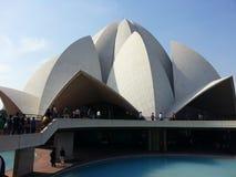 莲花寺庙新德里印度 免版税库存图片