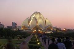 莲花寺庙新德里, 9月25,2011 :德里 也称Lotus的Bahai教堂Temple在1986年完成了 库存照片