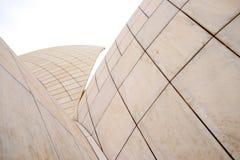 莲花寺庙白色大理石特写镜头细节在德里印度 免版税库存图片