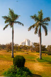 莲花寺庙,位于新德里,印度,是Bahai教堂 库存照片