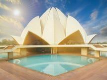 莲花寺庙,位于新德里,印度 免版税库存照片