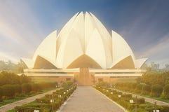 莲花寺庙,位于新德里,印度 库存图片