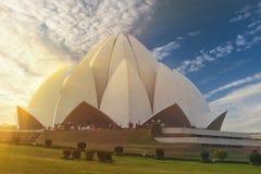 莲花寺庙,位于新德里,印度 免版税图库摄影