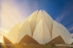 莲花寺庙,位于新德里,印度 库存照片