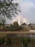 莲花寺庙,印度 免版税库存图片