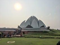 莲花寺庙,新德里,印度 库存图片