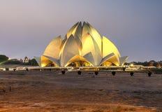 莲花寺庙,新德里,印度 免版税库存照片