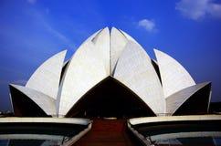 莲花寺庙, Bahai寺庙,新德里 免版税库存照片