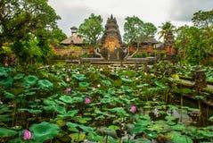 莲花寺庙 Ubud,巴厘岛 库存图片