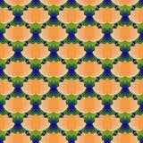 莲花无缝的模式 库存例证