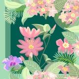 莲花热带庭院 库存照片
